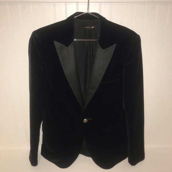 Balmain Jackets & Blazers - AUTH Balmain x HM Velvet Blazer